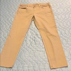 Michael Kors Straight Leg Khakhi Jeans